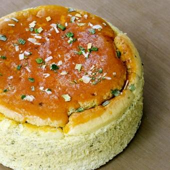 糙米輕乳酪蛋糕-三星蔥6吋